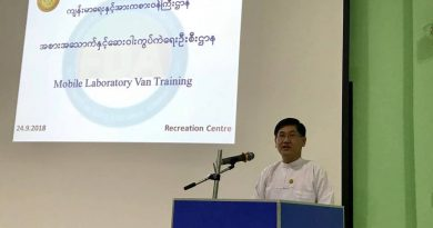 Mobile Laboratory Van Training ဓာတ်ခွဲခန်းယာဉ်များအသုံးပြုခြင်းသင်တန်းအား ကျင်းပပြုလုပ်ခဲ့
